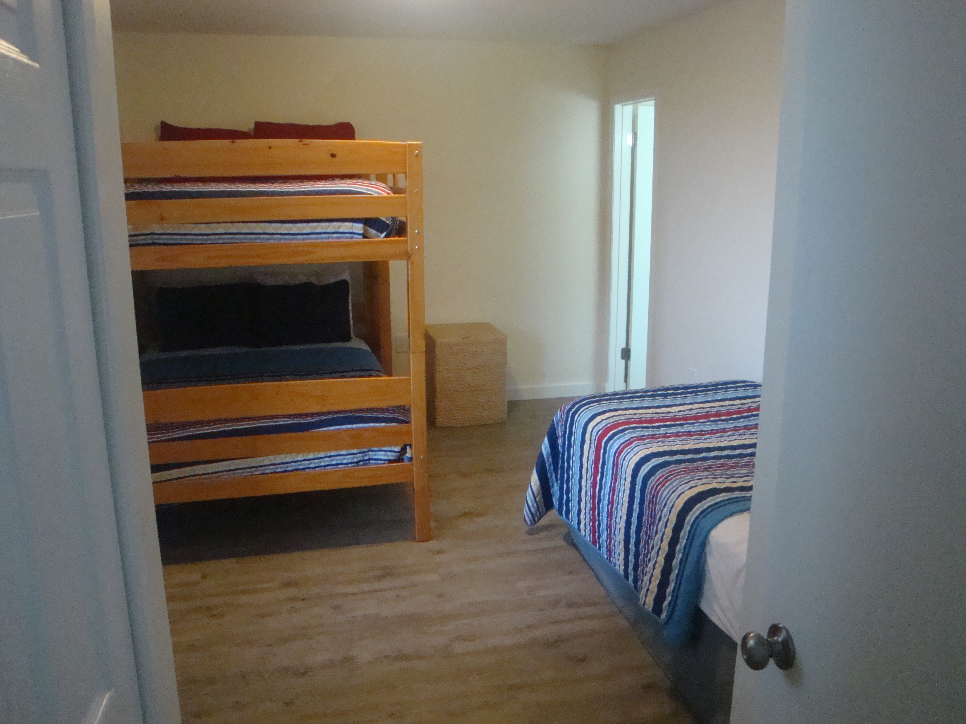 second bedroom/ double bunks+twin