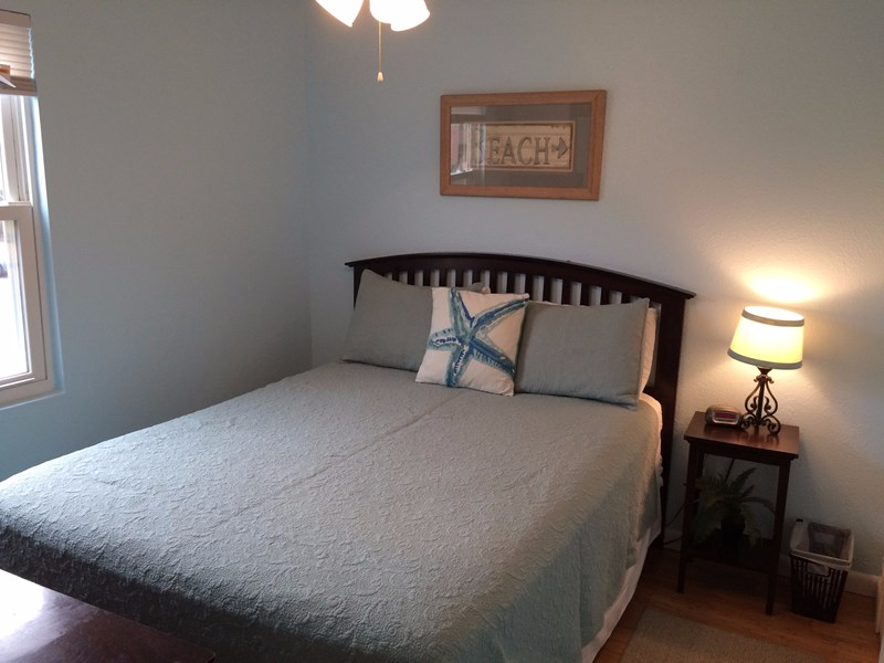 Blue Bedroom w/ Queen Eurotop Mattress