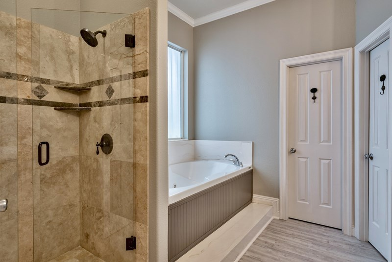 Master Bathroom walk-in shower & jacuzzi tub