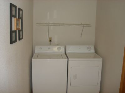 Washer/Dryer off bedroom - also has iron/board