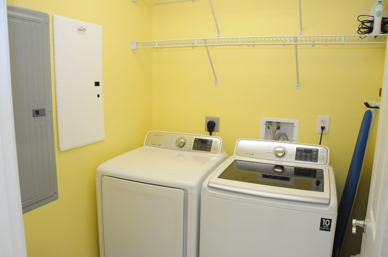 Laundry Room with Samsung Large Capacity Washer and Dryer