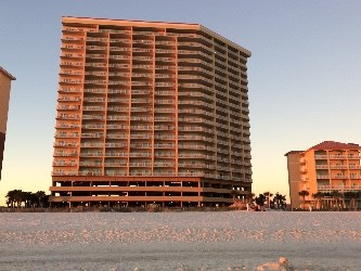 A view of the Seawind condos from the beach.