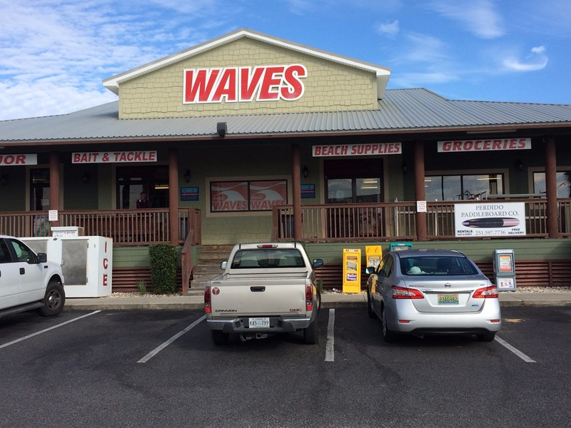 The Waves (Beach store) Directly Across Street