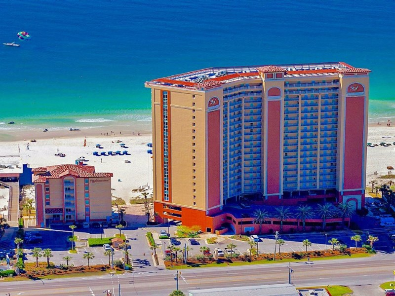 Aerial View of Seawind Condo.  Gulf Shores Escape Occupies the Entire 5th Floor of the Amenitites Building.
