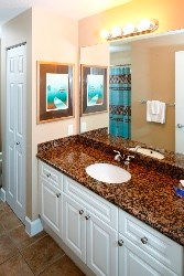 Roomy master bathroom, right off the master bedroom